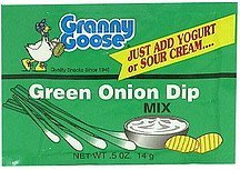 green onion dip mix Granny Goose Nutrition info