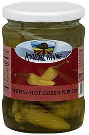 green peppers shipka-hot Kvuzat Yavne Nutrition info