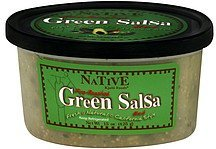 green salsa fire-roasted, hot Native Kjalii Foods Nutrition info