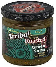 green salsa fire roasted mexican, mild Arriba! Nutrition info