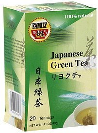 green tea japanese Family Nutrition info