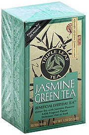 green tea jasmine Triple Leaf Tea Nutrition info