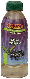 green tea natural energy, acai berry flavored Bazza Nutrition info