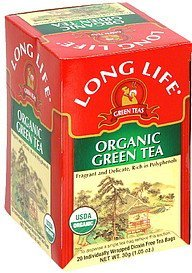 green tea organic Long Life Nutrition info