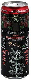 green tea with raspberry Xing Tea Nutrition info