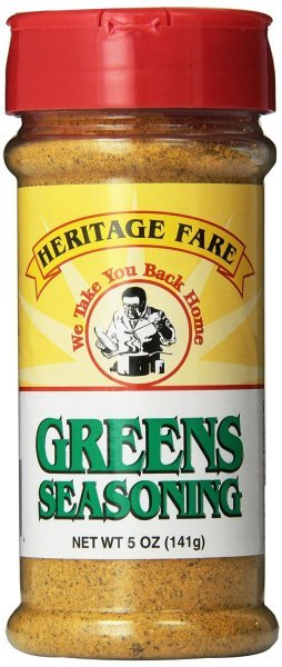 greens seasoning Heritage Fare Nutrition info