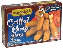 grilled cheese sticks Macabee Kosher Foods Nutrition info