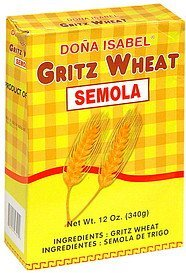 gritz wheat semola Dona Isabel Nutrition info