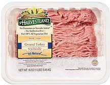 ground turkey fresh lean with natural flavorings Harvestland Nutrition info