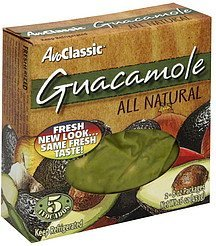 guacamole all natural Avo Classic Nutrition info