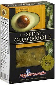 guacamole spicy Mr. Avocado Nutrition info