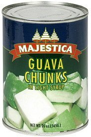 guava chunks in light syrup Majestica Nutrition info