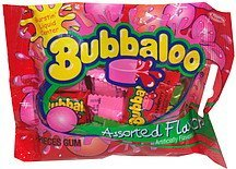 gum assorted flavors Bubbaloo Nutrition info