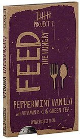 gum enhanced, feed the hungry, peppermint vanilla Project 7 Nutrition info