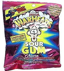 gum sour, assorted Mega Warheads Nutrition info