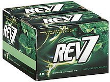 gum sugar free, natural spearmint Rev7 Nutrition info