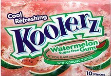 gum sugar free, watermelon Koolerz Nutrition info