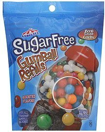 gumball refills, sugar free, assorted flavors Carousel Nutrition info