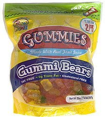 gummi bears Confectionery Lane Nutrition info