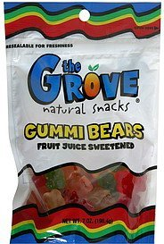 gummi bears The Grove Nutrition info