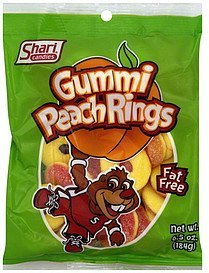 gummi rings peach Shari Candies Nutrition info