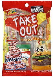 gummies fat free, assorted Take Out Nutrition info