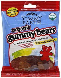 gummy bears organic Yummy Earth Nutrition info