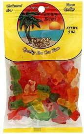 gummy bears Island Snacks Nutrition info
