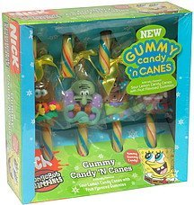 gummy candy 'n canes spongebob squarepants Frankford Candy & Chocolate Company Nutrition info