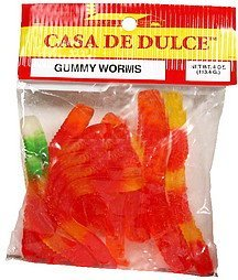 gummy worms Casa De Dulce Nutrition info