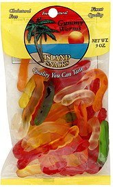 gummy worms Island Snacks Nutrition info