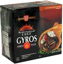 gyros family pack Mediterranean Chef Nutrition info