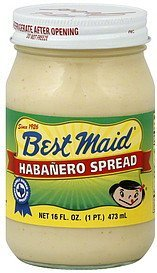 habanero spread Best Maid Nutrition info
