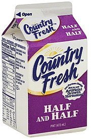 half and half Country Fresh Nutrition info
