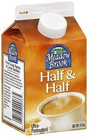 half & half Meadow Brook Nutrition info