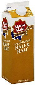 half & half Marva Maid Nutrition info