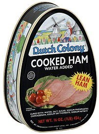 ham cooked Dutch Colony Nutrition info