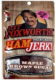 ham jerky maple brown sugar, bonus Jeff Foxworthy Nutrition info