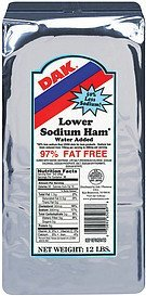 ham lower sodium Dak Nutrition info