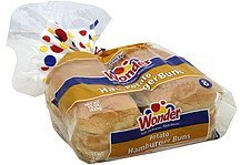 hamburger buns potato Wonder Nutrition info