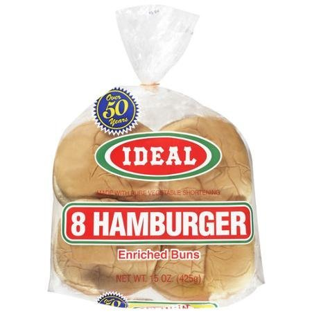 hamburger buns Ideal Nutrition info