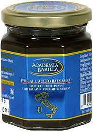hand cut fresh pears with balsamic vinegar of modena Academia Barilla Nutrition info