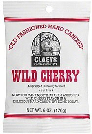 hard candies old fashioned, wild cherry Claeys Nutrition info