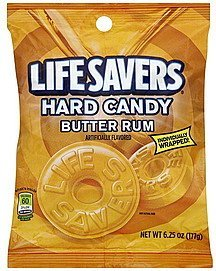 hard candy butter rum Lifesavers Nutrition info