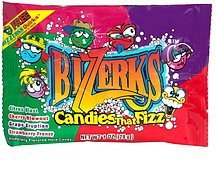 hard candy candies that fizz, assorted flavors BiZZerks Nutrition info