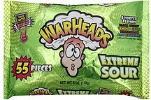 hard candy extreme sour, assorted flavors War Heads Nutrition info