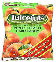hard candy perfect peach Juicefuls Nutrition info