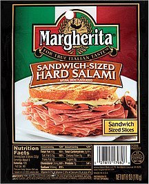 hard salami sandwich-sized Margherita Nutrition info