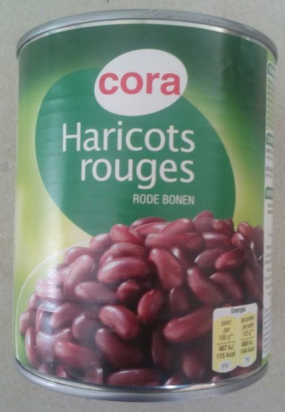 haricots rouges Cora Nutrition info