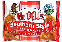 hash browns southern style diced potatoes Mr. Dell's Nutrition info